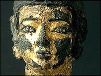 Gilded statuette of king from Kush dynasty in Tabo, Sudan. Copyright: Sudan National Museum
