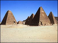 Pyramids at Jebel Barkal, Sudan. Copyright: Derek A Welsby