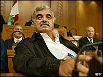 Rafiq Hariri in parliament