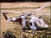 A Lynx helicopter
