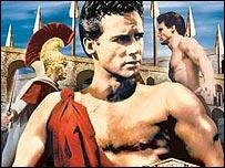 Steve Reeve hace de Filipides en la pel�cula El gigante de Marat�n, de 1959.