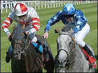 Millenary and Kasthari fight it out to finish in the Doncaster Cup