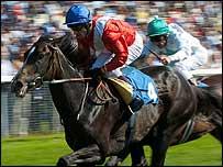 Jockeys in race   PA