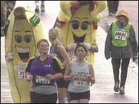 Marathon fun runners