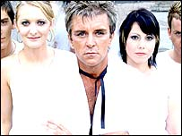 Steve Strange and the band DV8