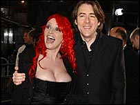 Jonathan Ross with his wife