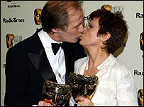 Best actor winner Bill Nighy with best actress Julie Walters
