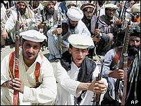 Tribal fighters in Wana, South Waziristan, Pakistan