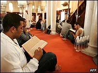 Muslims in French mosque
