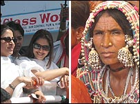 Nagma and tribal woman