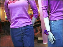 Mannequins in a shop window