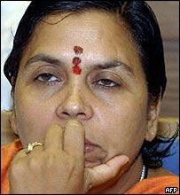 BJP politician Uma Bharti