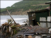 Wreckage from Hurricane Ivan