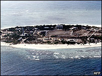 Vietnamese fortification built in the Sincowe East Island, Spratlys