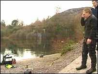 rescuers at Dorothea Quarry