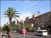 Street scene of the Eritrean capital Asmara