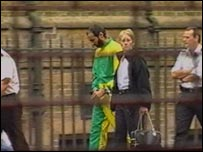Mr Ahmad arriving at Bow Street Magistrates' Court on 10 September