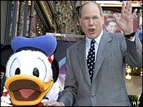 Donald Duck and Michael Eisner
