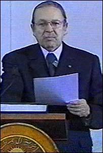 Abdelaziz Bouteflika (Pic: Algerian TV)