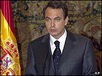 Spanish Prime Minister Jose Luis Rodriguez Zapatero