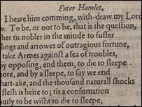 Pliego de Hamlet