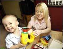 Rachel Elwood and her son
