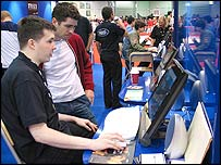 Gamers at EGN show in London