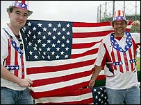 USA fans at The Oval
