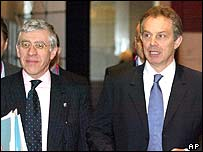 Foreign Secretary Jack Straw and Tony Blair 