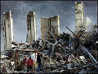 Debris from the World Trade Center