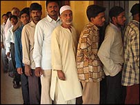 Early voting in the southern city of Hyderabad