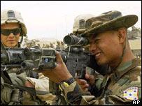 Soldado hondureño en Irak