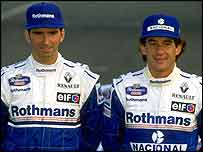 Ayrton Senna with Damon Hill