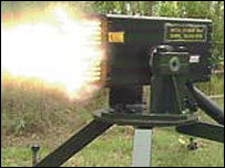 Metal Storm's 36 barrel prototype fires at one million rounds per minute