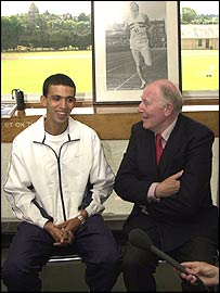 Hicham El Guerrouj and Sir Roger Bannister