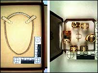 Necklace and rings from the Cartier collection the De-Laurey bought
