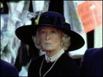 Frances Shand Kydd at her daughter's funeral