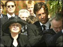 Caron Keating's funeral
