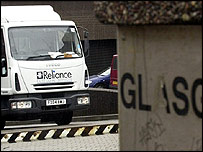 Reliance van in Glasgow