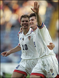 Former Croatian internationals Zvonimir Boban and Davor Suker