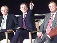 Michael Heseltine, Tony Blair and Ken Clarke