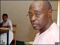 Pasteur Bizimungu while in court in 2002