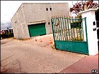 The entrance to the Muslim association building where Imam Abdelkader Bouziane is prayer leader.