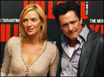 Uma Thurman and Michael Madsen