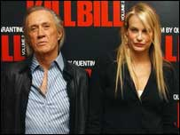 David Carradine and Daryl Hannah