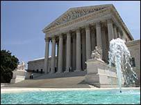 Edificio de la corte suprema de justicia en Washington