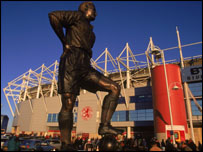 George Hardwick's statue at The Riverside