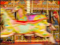 Carousel, photo by Ian Britton at Freefoto.com