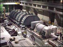Generator in Iran's Bushehr nuclear power station