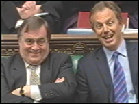 Tony Blair and John Prescott at PMQs